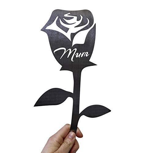 Huaduo Handmade Mother Flower Garden Sculpture Metal Rose Flower Plate Garden Art Birthday Gift for Grandma, Mother's Day Gift, Ladies? Gift, Home and Garden Decoration