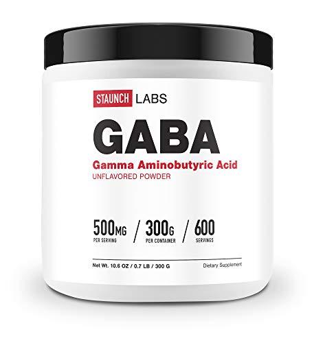 Staunch Labs GABA Powder 300 GMS - Non GMO, Gluten Free