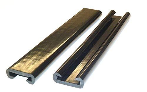CHM PVC Kunststoff Handlauf, Treppenhandlauf 40x8 mm in schwarz. Länge von 5m - 20m. (15m)