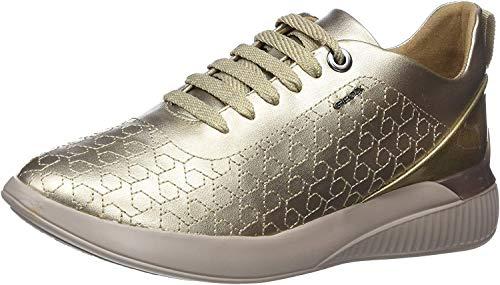 Geox Damen D Theragon C Sneaker, Gold (Champagne Cb500), 37 EU