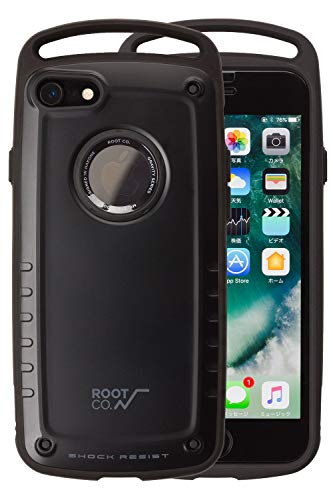 【ROOT CO.】iPhone7 iPhone8 ケース 耐衝撃 GRAVITY Shock Resist Case Pro. (マットブラック)米軍MIL規...