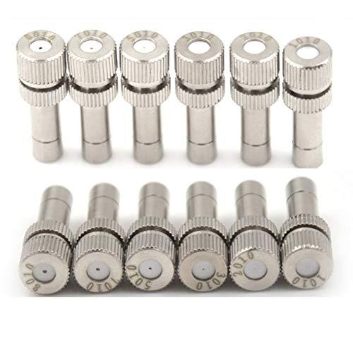 BHGFU 100 Piezas Boquilla de Latón para Nebulización Atomización Spray Mister Boquilla para Sistema de refrigeración al Aire Libre (Size : 0.4mm)