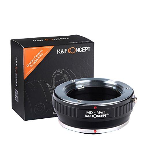 K&F CONCEPT Bague adaptatrice pour Monter Objectif Minolta MD à Caméra Micro M4 3 Noir en Métal