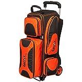 Moxy Deluxe Triple Roller Bowling Bag- Orange/Black ()
