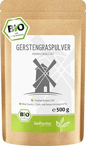 BIO Gerstengraspulver 500g | Gerstengras gemahlen | 100% naturrein | Bioqualität | aus Deutschland bioKontor