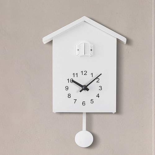 zhmku Reloj De Pared Sala De Estar Dormitorio Habitación Infantil Restaurante Cocina Baño Mudo Creativo Nórdico Viento Cuco Reloj Ventana Reloj 3 Pulgadas
