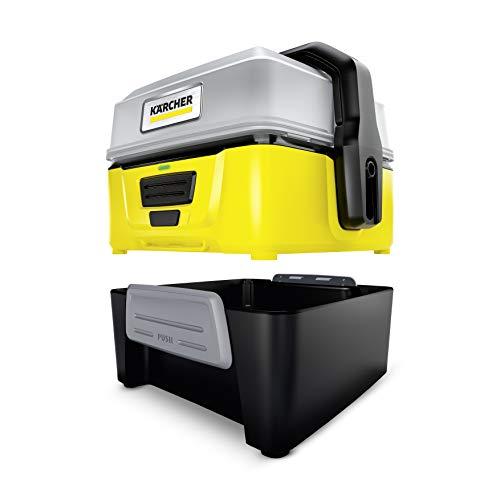 Kärcher Mobile Outdoor Cleaner OC 3 Adventure Box (Wassertankvolumen: 4 l, Lithium-Ionen-Akku, abnehmbarer Wassertank, schonender Niederdruck, Universalbürste, Ansaugschlauch) - 6
