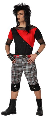 Atosa- Disfraz hombre punky, Color rojo, M-L (15471)