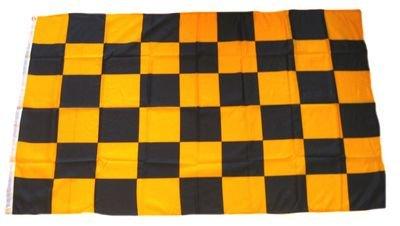 Fahne / Flagge Karo schwarz / gelb NEU 90 x 150 cm