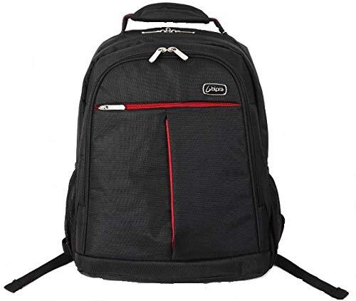 Bipra zwarte/rode laptoptassen voor Sony, Dell, Asus, HP, Lenovo, Toshiba, IBM, Acer (15.6 rugzak)