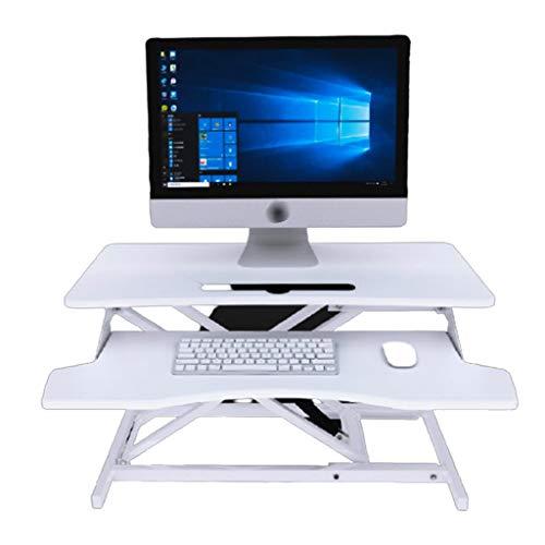 Mesas para ordenador Escritorio De Computadora De Pie Soporte De Elevación Estante para Computadora Portátil Escritorio De Aumento De Escritorio Banco De Trabajo De Oficina Plegable Fácil Ajuste