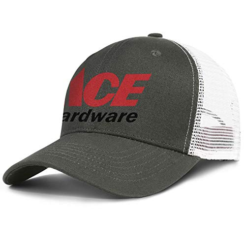 Unisex Men Baseball Hat Low Key Adjustable Mesh Driving Ace-Hardware-Logo-Symbol-Flat Caps