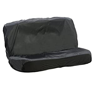 AutoCompanion - Fundas impermeables para asiento trasero corrido de coche, universales (opciones delanteras o traseras) - Negro