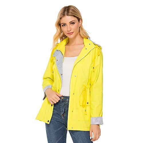 Bedee Women's Waterproof Rain Jacket