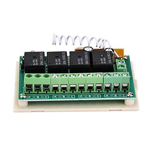 FOLOSAFENAR Transmisor Rendimiento confiable Interruptor inalámbrico 4CH Relé, Puerta automática, Ventana