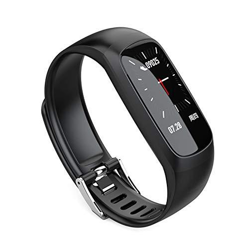 Aktivitätstracker, Wasserdicht Intelligente Hand Ring Monitoring Herzfrequenz, Blutdruck, Sport, Laufen, Color Screen Watch, Gesunde Gauge IP67 Wasserdicht,schwarz