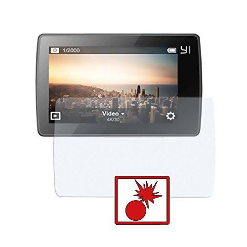 Slabo 2 x Panzerschutzfolie kompatibel mit Xiaomi Yi 4K+ Action Cam Panzerfolie Displayschutzfolie Schutzfolie Folie Shockproof | Stoßfest KLAR