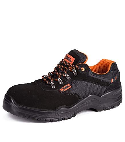 Calzado Deportivo de Seguridad S1P SRC con Puntera Ultraligera de conglomerado Zapatos de Trabajo al Tobillo de Senderismo con Suelas centrales de Kevlar 1557 Black Hammer Black Hammer (45 EU)