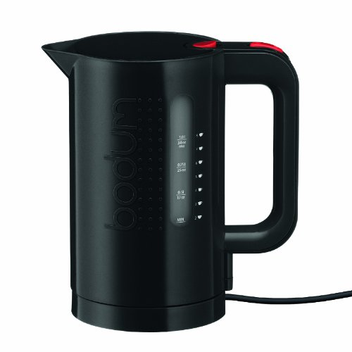Bodum Bistro Electric Water Kettle, 34 Ounce, 1 Liter, Black