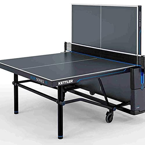 Kettler K15 Outdoor, Tavolo da Ping-Pong Professionale per Esterni, Alta qualità, Robusto Pannello in Resina melamminica da 10 mm con Rivestimento AntiGraffio, Pieghevole, Made in Germany