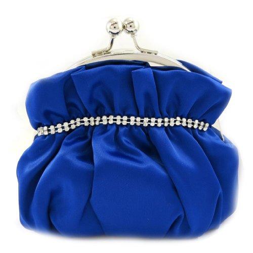 Les Trésors De Lily [L3570 - Sac Bourse 'Nina' bleu strass