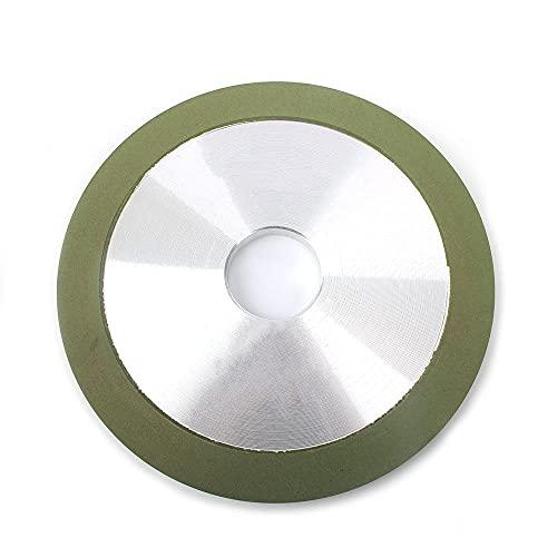 100/125/150 mm Disco de corte de muela abrasiva de diamante Afilador de amoladora de unión de resina Metal de carburo para cortador de fresado de acero de tungsteno, 125x32x10x15,320