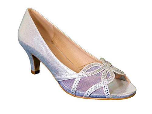 Zapatos con purpurina para mujer, para novia, tacón bajo, para fiestas, tallas,...