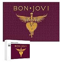 ボン ジョヴィ シンボル アイコン Bon Jovi 300ピースジグソーパズル木製パズル 子供 グッズ 初心者向け ギフト 人気 減圧知育玩具大人 耐久性 高級印刷 無毒 無臭 無害 難易度調整可能 プレゼント