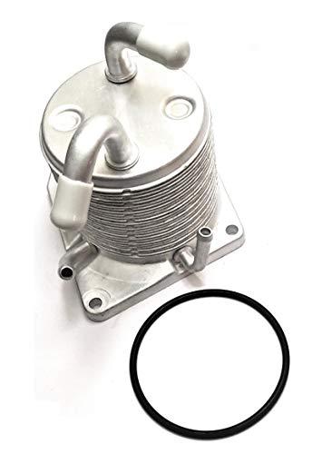 Upgraded 4 Port CVT Transmission Oil Cooler & Oring Gasket Compatible for Nissan Rogue 2008-2013 Sentra 2007-2012 Juke 2011-2014 CVT Cooler 21606-1XF0A