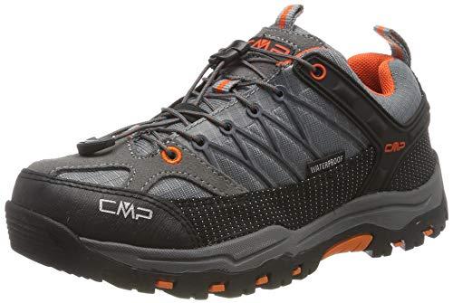 CMP Rigel Low, Chaussures de Randonnée Basses Mixte, Gris (Stone-Orange 78uc), 35 EU