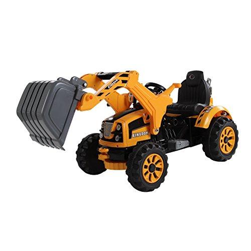 homcom Escavatore Elettrico Trattore per Bambini Scavatrice Macchinina Giocattolo velocità: 2.5KM/h 150 x 62 x74cm