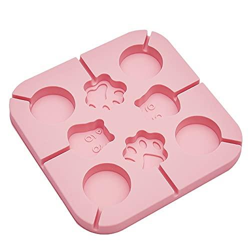 Juudoiie Moldes de piruleta de cocción casera para uso en el hogar Herramientas para hornear herramientas de silicona Lollipop Molde El molde de chocolate de chocolate puede hacer lollipops de jugo de