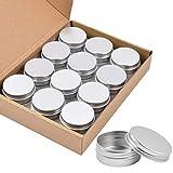 Aluminio Estaño Latas, Sopito 24pcs 15ml / 0.5oz Contenedores de Tapa de...