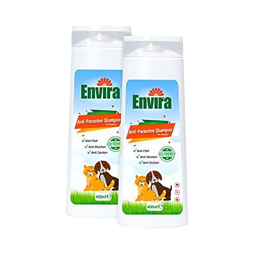 ENVIRA Anti-Parasiten Shampoo für Hunde & Katzen - Mittel gegen Zecken, Flöhe & Mücken - 400 ml