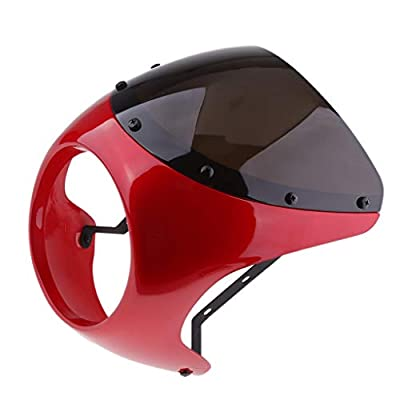 "Baosity 7"" Motorcycle Universal Retro Headlight Fairing Wind Screen Cafe Racer"
