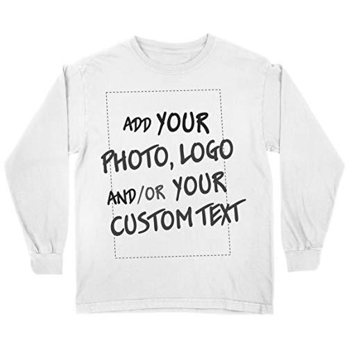 lepni.me Camiseta para Niño/Niña Regalo Personalizado, Agregar Logotipo de la Compañía, Diseño Propio o Foto (3-4 Years Blanco Multicolor)