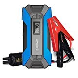 TIWKICH A11 Portable Automotive Jump Starter 1500A 12V Lithium Car Battery Booster Jump Starter Pack with LCD Display,USB Quick Charge, for Up to 7.0L Gasoline and 5.5L Diesel Engines (Blue)