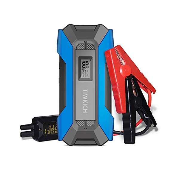 TIWKICH A11 Plus Updated Version Portable Automotive Jump Starter 800 Amp 12-Volt...