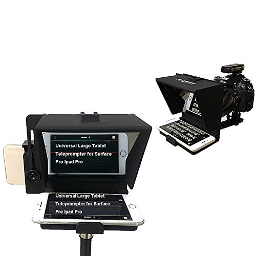 OHGGB Teleprompter Universal Portable Adjustable for Ipad/Tablet/Tab/Smartphone/iPhone/DSLR Video Camera Beam Splitter with Remote