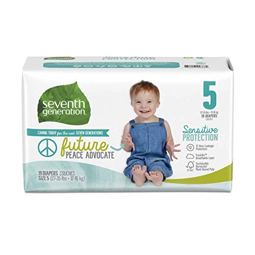Seventh Generation Baby Diapers, Sensitive Protection, Size 5, 19 Count
