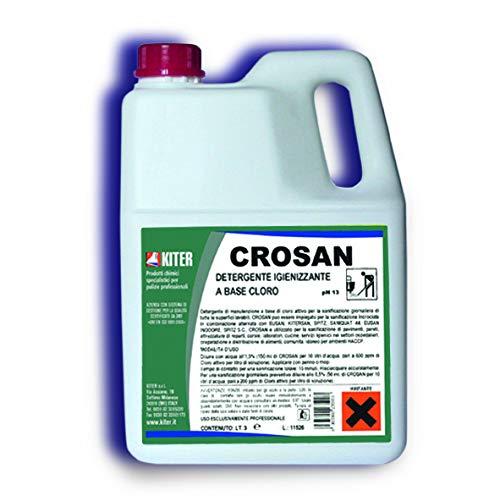 KITER CROSAN - Limpiador desinfectante a base de cloro activo para la sanificación diaria de todas las superficies lavables