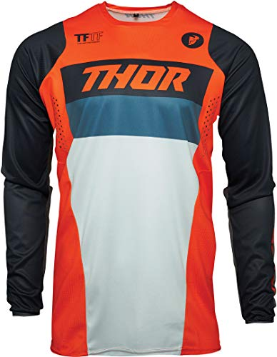 Thor Pulse Racer Maglia Motocross Giovanile Arancione/Bianco/Blu S