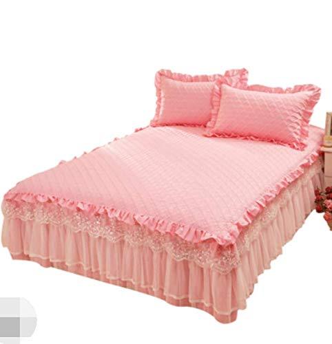 RKZM bed rok eendelige kanten rok stijl prinses wind anti-slip katoen dik dekbed matras topper dubbel 220x200 cm
