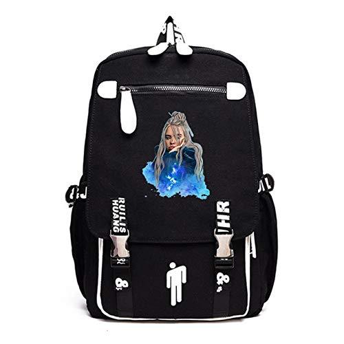 DUYUJIE Backpack Billie Eilish Double Iron Buckle Adjustable Shoulder Strap for School University Work Weekend Vacation