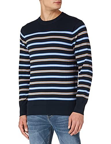 Scotch & Soda Leichtes Gestreiftes Sweatshirt Suter Pulver, 0217 Combo A, XXL para Hombre
