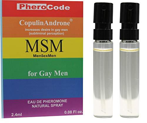 PheroCode MSM Perfume for Gay Men with Pheromones 0.08Fl. Oz+0.08Fl. Oz