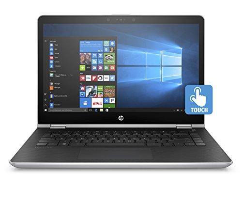 HP Pavilion x360 14-ba024nl Notebook Convertibile, Intel Pentium Gold 4415U, RAM da 8 GB, SSD da 128 GB, Argento Naturale