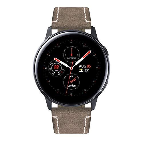 Bandas de Reloj Compatibles con Samsung Galaxy Watch 46mm Samsung Gear S3 Classic Frontier Smartwatch 22mm Quick Release Correa de Cuero de Caballo Loco Reemplazo Pulsera de Pulsera
