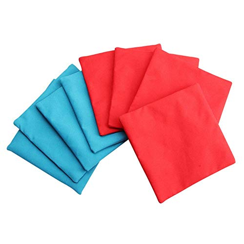 lennonsi Cornhole Bag Corn-Filled Cornhole Stoffbeutel Trainingsgeräte, Sports Replacement Bean Bags for Cornhole, 4 rote und 4 Blaue Turnierbags als Set, Cornhole Sitzsäcke, 12x12cm