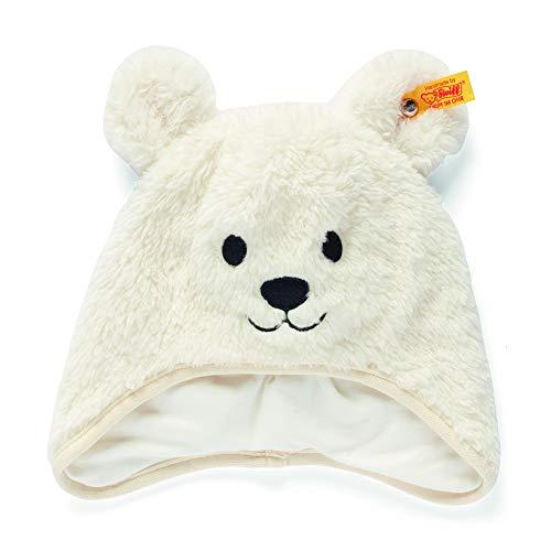 Steiff Baby - Mädchen Mütze , Weiß (CLOUD DANCER 1001) , 43 (Herstellergröße:43)